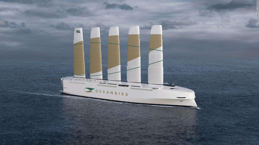 海洋鸟——瑞典的新汽车运输船将是世界上最大的风力动力船