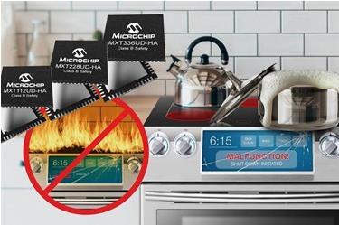 Microchip推出安全认证的触摸屏控制器系列,适用于家用电器市场
