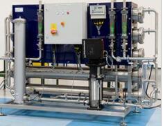 新的成套水处理系统采用反渗透技术,可提供商业无菌的优质水