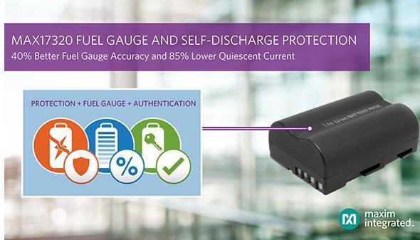 Maxim推出业界首款可连续监测自放电并提供保护功能的锂离子电池电量计