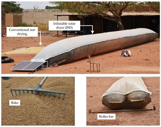新型充气式太阳能干燥机,可用于干燥水稻内的杂质以防变质!