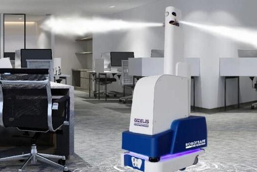 希腊首款自主移动消毒机器人 采用雾化技术配备3D摄像头
