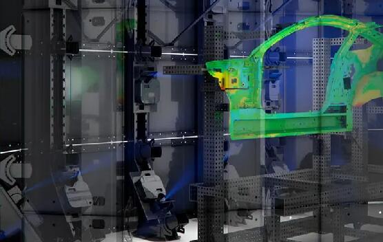 零件检测新技术!环绕声扫描仪添加了动态色彩图错误投影