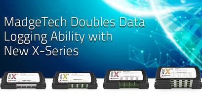 新型X系列数据记录器能力翻倍:具有4、8、12或16通道