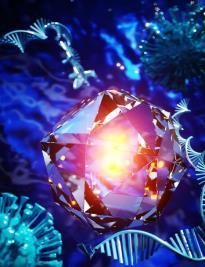 纳米金刚石的量子感测能力可用于提高纸质诊断测试的敏感性