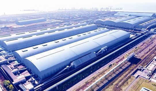 首钢京唐建全球最大料场封闭工程 实现全过程清洁生产