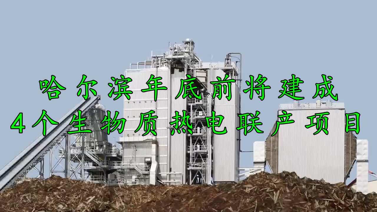 哈尔滨推行生物质热电联产项目,看来环保还是大环境