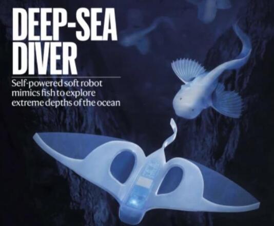 浙大深海機器魚登上《自然》封面:實現萬米深海操控,為機器人領域的重大突破