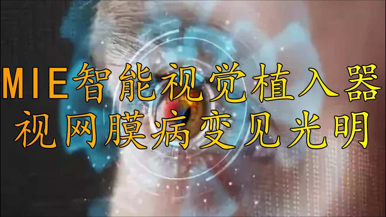 IMIE智能视觉植入器,让视网膜病变患者重见光明