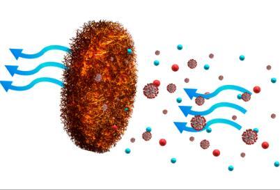 泡沫铜可有效过滤掉微生物,可用于面罩和空气过滤系统