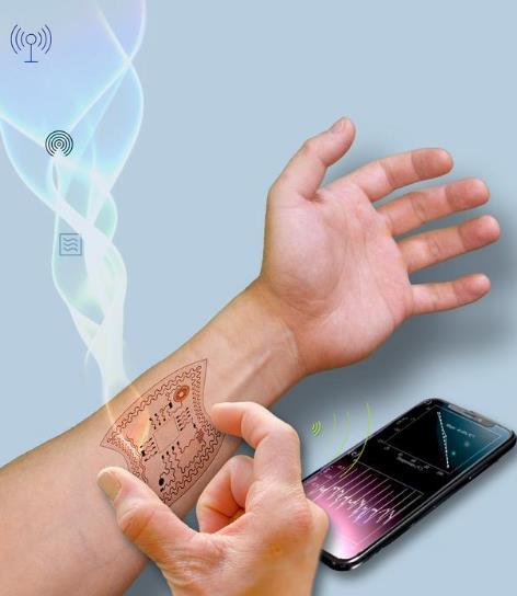 研究人员从无线电波中收集能量,为可穿戴设备供电