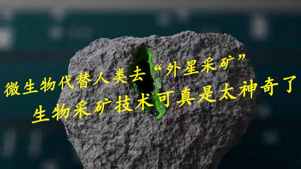 """微生物可以代替人类去""""外星采矿"""",生物采矿技术可真是太神奇了"""