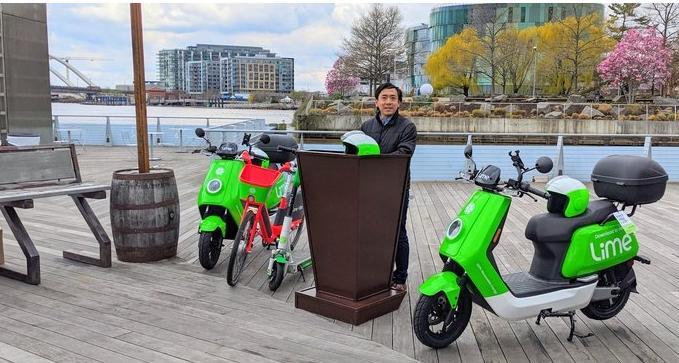 Lime公司在华盛顿特区推出了第一款电动助力车
