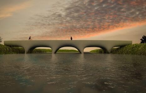 长度29.5m!3D打印出的全球最长人行天桥