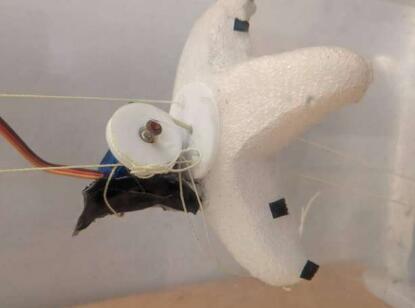 软体海星机器人,依靠连接伺服电机的肌腱运动