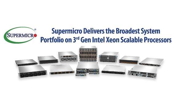 突破极限!Supermicro推出搭载第3代Intel Xeon可扩展处理器的最新服务器系列