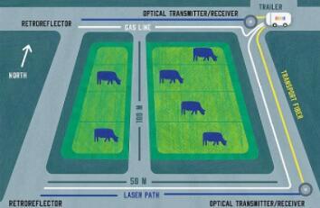 NIST开发出新型光频率梳,可测量奶牛发情和肠胃气胀的气体排放量