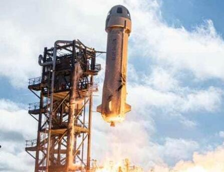 """蓝色起源再试飞""""新谢泼德"""",在人类太空旅游的道路上又前进了一步"""