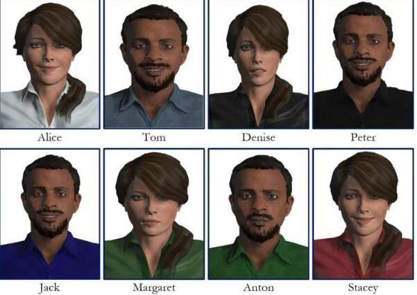 虚拟和混合现实环境中,虚拟人可以帮助人们练习新技能