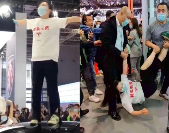 特斯拉上海车展遭女车主维权 回应:对不合理诉求不妥协