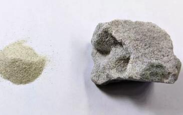 无水泥混凝土,利用酒精和催化剂将沙粒直接粘合在一起