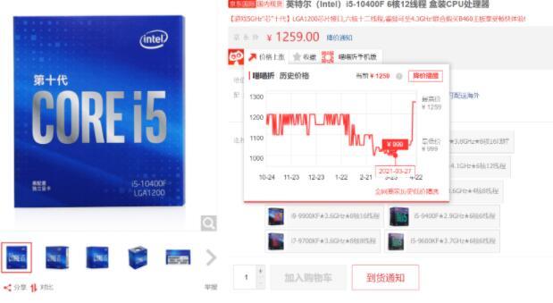 硬盘涨价之后:英特尔CPU涨幅超20% 热门产品均无货