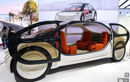 """一辆""""有环保意识""""的无人驾驶电动汽车 吃喝玩乐于一室"""