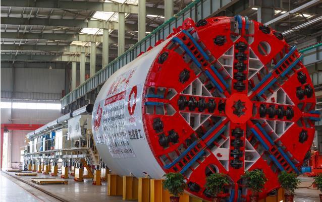 安徽首臺長江隧道盾構機下線 填補該省該領域的空白