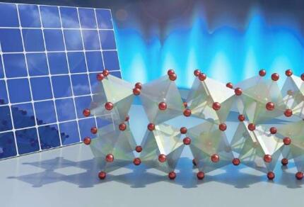 实验揭示过氧化物太阳能电池中晶体的液态运动如何有效产生电流