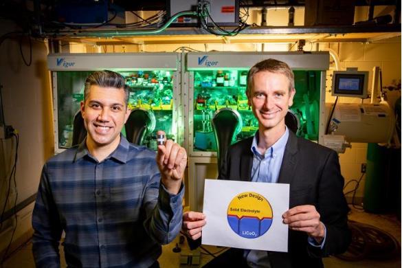 新研究可以改善阴极-固体电解质界面和固态电池的稳定性