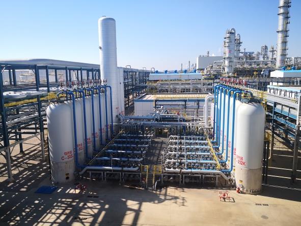 泉州石化新升级的变压吸附装置每年将减少1.7万吨二氧化碳排放