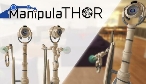 嵌入式人工智能框架AI2-THOR的3.0版本,可以训练机器人感知和导航功能