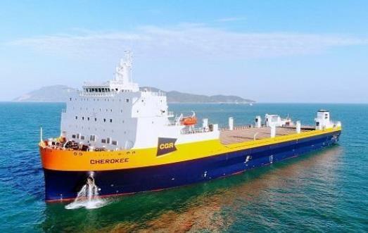 全球最大火车滚装船完工交付 成为世界滚装船领域新的标杆