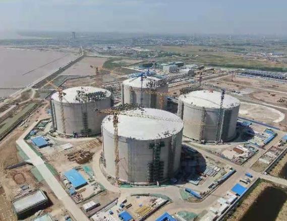 中國自主研發全球最大容積LNG儲罐開工建造 達到全球領先水平