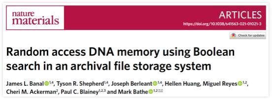 MIT成功地将图像和文本编码为 DNA 保存,1立方厘米的 DNA 比一万亿张光盘的存储量还大