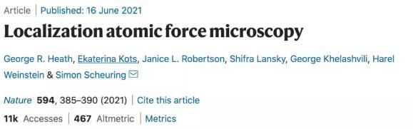 科学家开发的一种新型显微技术,将原子力显微镜的分辨率带到一个全新的高度