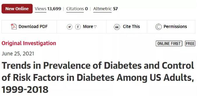 為科學防控糖尿病提供有效依據!上交大深入研究美國外成人糖尿病流行趨勢和控制情況