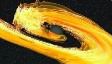 科学家首次探测到两个黑洞吞噬中子星事件,通过引力波探测到的