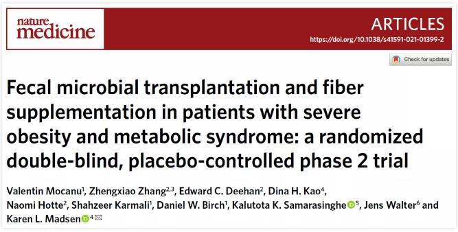 被證實了:移植瘦子的腸道菌群,能夠改善肥胖患者健康