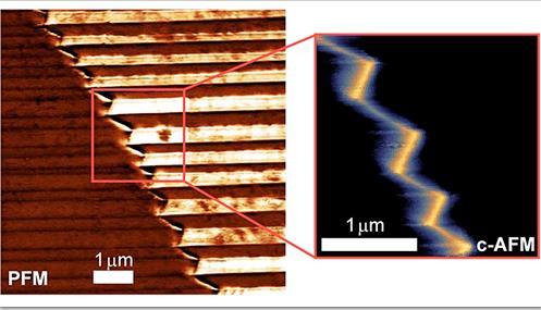 研究人員發現具有前景的導電疇壁 為未來在電子設備應用鋪平道路