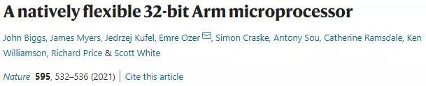 突破性成果:ARM推出?柔性聚酰亞胺基微處理器,有望開創萬物互聯