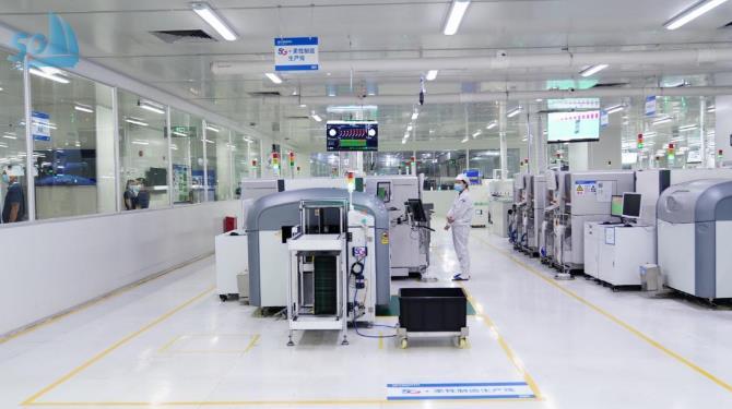 中國電信聯合創維打造的5G+8K柔性智能工廠