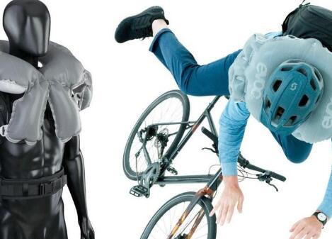 給自行車配上安全氣囊,車禍時可在 0.02 秒內展開,減少80%沖擊力