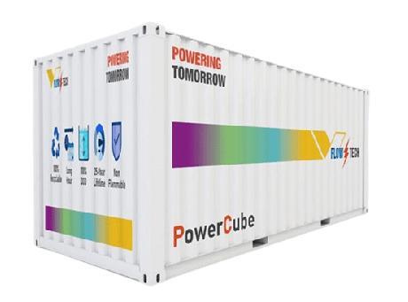 FlowTech公司開發儲能成本為0.10美元/kWh的釩氧化還原液流電池