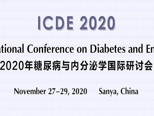 2020年糖尿病与内分泌学国际研讨会(ICDE 2020)